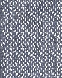 Blue Abstract Fabric  Riverbed Cello Blue Slub Canva
