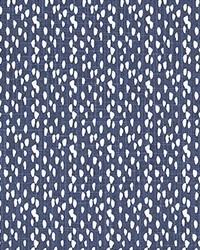 Blue Abstract Fabric  Riverbed Regal Navy Slub Canva