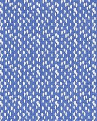 Blue Abstract Fabric  Riverbed Royal Slub Canvas