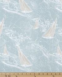 Blue Boats and Sailing Fabric  Sail Away Spa Blue