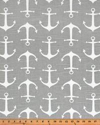 Grey Boats and Sailing Fabric  Sailor Ash Slub