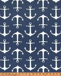 Blue Boats and Sailing Fabric  Sailor Premier Navy Slub