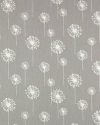 Grey Small Print Floral Fabric  Sm. Dandelion Storm Twill