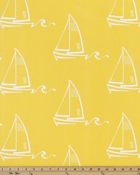 Yellow Boats and Sailing Fabric  Seaton Mimosa