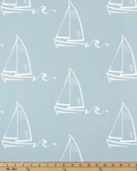 Green Boats and Sailing Fabric  Seaton Spa Blue