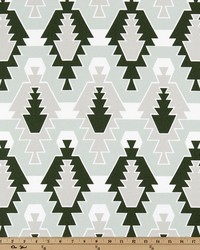 Green Navajo Print Fabric  Sequoia Artichoke Juniper