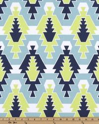 Blue Navajo Print Fabric  Sequoia Vintage Indigo Canal