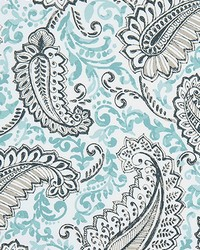 Blue Classic Paisley Fabric  Shannon Canal Twill