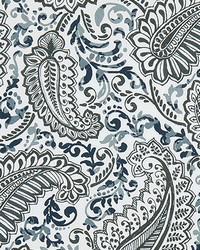Blue Classic Paisley Fabric  Shannon Vintage Indigo