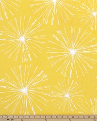 Yellow Circles and Swirls Fabric  Sparks Mimosa