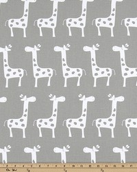 White Jungle Safari Fabric  Stretch Storm White