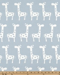 White Jungle Safari Fabric  Stretch Weathered Blue White T