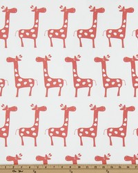 White Elephants and Other Exotic Animals Fabric  Stretch White Coral Twill