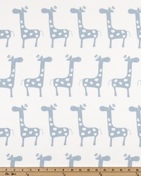 White Jungle Safari Fabric  Stretch White Weathered Blue T