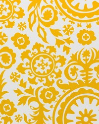 Yellow Suzani Fabric  Suzani Corn Yellow Twill