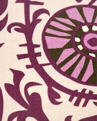 Purple Suzani Fabric  Suzani Vine Grapevine Dossett