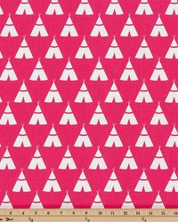 Premier Prints Tee Pee Candy Pink White Fabric