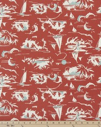 Red Boats and Sailing Fabric  The Bay Formica Red Macon