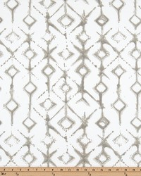 Beige Navajo Print Fabric  Tribal Ecru