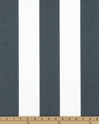 Grey Wide Stripe Fabric  Vertical Gunmetal Twill