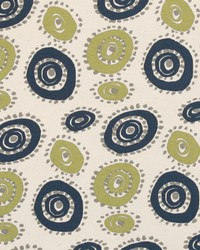 Blue Circles and Swirls Fabric  Wheelie Felix Natural