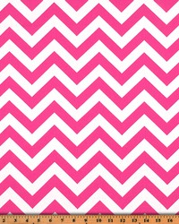 Premier Prints Zigzag Candy Pink Twill Fabric