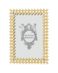 Gold Crystal  Pearl 4x6 Frame by