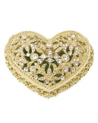 Gold Luxembourg Heart Box by