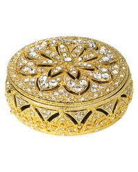 Gold Windsor Round Box by
