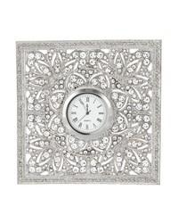 Silver Windsor Desk Clock by
