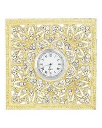 Gold Windsor Desk Clock by
