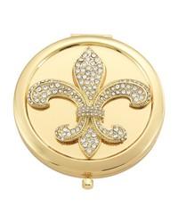 Gold Fleur de Lis Compact Gold by