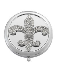 Silver Fleur de Lis Compact Silver by