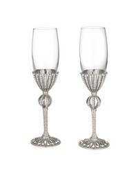 Silver Emerson Flute Set of 2 - 7 oz. by