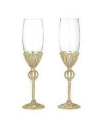 Gold Emerson Flute Set of 2 - 7 oz. by