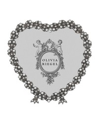 Pewter Contessa Heart 3.5in Frame Pewter by
