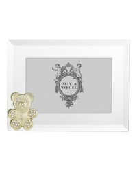 Gold Teddy Bear 4in x 6in Frame Gold by