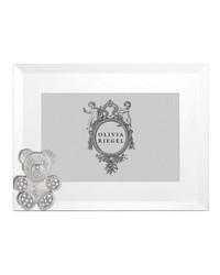 Silver Teddy Bear 4in x 6in Frame Silver by