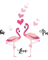 Flamingos Wall Decals by