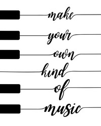 Own Kind of Music Wall Art Kit by  Brewster Wallcovering