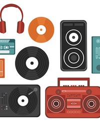 Retro Beats Wall Art Kit by  Brewster Wallcovering