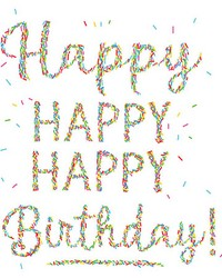 Happiest Birthday Wall Art Kit by  Brewster Wallcovering