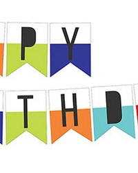 Happy Birthday Wall Art Kit by  Brewster Wallcovering