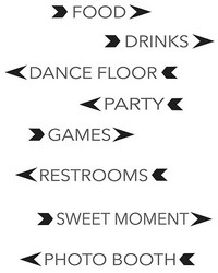 Party Signs Wall Art Kit by  Brewster Wallcovering