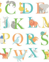 Alphabet Animals Wall Art Kit  by