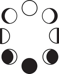 Moon Phase Wall Art Kit  by  Brewster Wallcovering