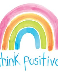 Think Positive Wall Art Kit by