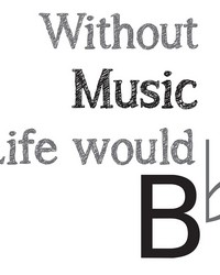 Life Without Music Wall Quote by
