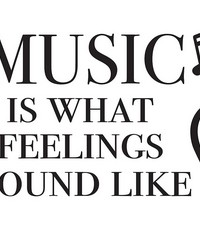 Feeling Music Wall Quote by