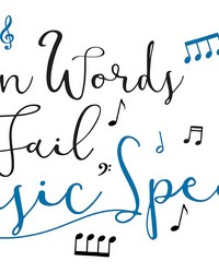 Music Speaks Wall Quote by  Brewster Wallcovering